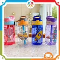 UNITYOFFICIAL Botol Air Minum Anak Sedotan Motif Lucu Karakter 480 ML