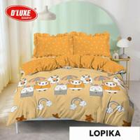 Bedcover kintakun 180x200/king motif Lopika/motif anak warna kuning
