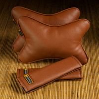 Paket Bantal Mobil & Cover Seatbelt Karlo Brown