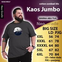 kaos baju oversize big size jumbo pria xxl xxxl B2063 m2