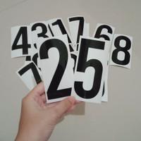 stiker nomor rumah - nomor pintu sticker - stiker oracal angka - Hitam