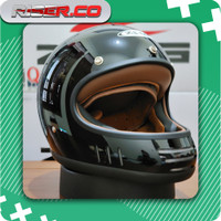 Zeus 816C Black Glossy Retro Vintage Classic Helm - L