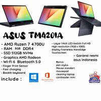 Asus TM420ia Ryzen 7 4700U 8GB SSD 512GB W10 OHS 14 Touchscreen FHD