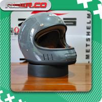 Zeus 816C Grey Glossy Retro Vintage Classic Helm