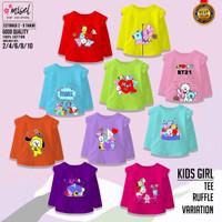 Baju Anak Perempuan Kaos Anak Cewek Lengan Panjang Misel Usia 2-8Tahun