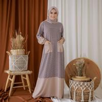 Dress Gamis Premium Wanita Ghea Hand Rubber Dress Fashion