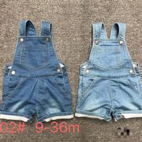 Baju Kodok / Overall Jeans celana pendek anak import umur 9 - 36 bulan