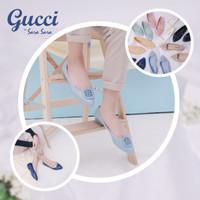 Sepatu Wanita Sara Sara Gucci Flatshoes Jelly Casual