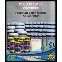 Paket Bahan Cat Beton Ekspos Untuk 50 Meter | Deco Plaster Granules
