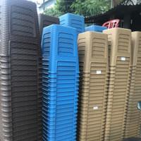 Kursi Plastik Motif Rotan bangku plastik Termurah Olymplast Baru