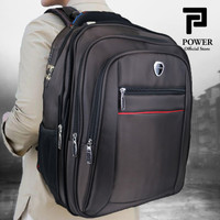 POLO POWER Tas Pria Ransel Laptop 20 inc Expanding Backpack Jumbo Size