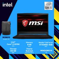 MSI GF63 Thin - RTX3050 i7 10750 8GB 512ssd 15.6FHD IPS 144Hz Win10