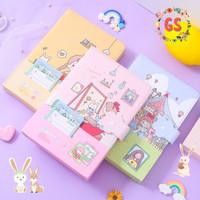 Notebook Diary / Agenda Planner Jurnal buku tulis PU magnet Caponata