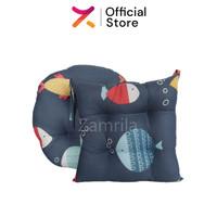 Paket Bantal Duduk Gray Fish, Bantal Duduk Kotak & Bulat Premium