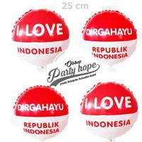 Balon foil bulat merah putih mini/ balon hut ri/ balon 17 agustus/