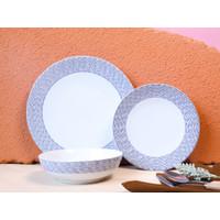 Piring Keramik Premium Set Biru by Carramica