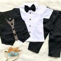 Baju setelan tuxedo kemeja rompi celana anak laki laki/jas anak cowok