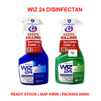 Wiz 24 / Wiz24 Disinfektan Spray & Clean Permukaan Botol 450 ml