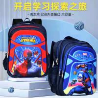 Tas Sekolah Ransel Anak Laki-Laki Karakter Spiderman Mata Lampu