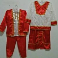 Baju adat maluku ambon anak perempuan laki laki kostum karnaval