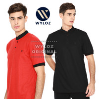 Baju Kaos Polo Shirt Kerah Sanghai Jumbo Big Size Laki Pria Wyloz Six