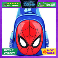 KAFVNIE Tas Ransel Sekolah Anak Backpack Spiderman - 1801