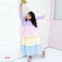 BAJU DRESS ANAK RAINBOW JPUFF - DREES MUSLIM PEREMPUAN RAIN BOW - KIDS
