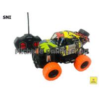 Mainan anak mobil remot off road corak / Mainan mobil jeep remote new - jeep ban orange