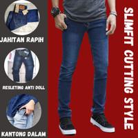 Celana Panjang Slim Fit Stretch Soft Jeans Pria Hitam Levis Denim