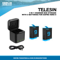 Battery Pack GoPro HERO 9 (Telesin Brand) - 2 in 1 Baterai HERO9