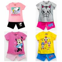 setelan kaos baju anak perempuan size 2 3 4 5 6 7 8 9 10 tahun #776