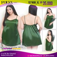 FOLVA baju tidur tanktop dress satin 1571HDR_XL big size XL jumbo