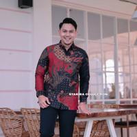 baju batik pria kemeja batik pria lengan panjang lapis full furing AR2