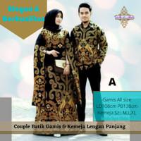 Couple Batik Baju Couple Formal Sarimbit Gamis Lengan Panjang Katun