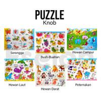 Puzzle Kayu Knob / Mainan edukasi puzzle kayu (KNOB) / Puzzle kayu