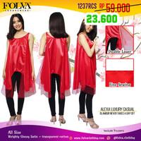 Dress Cewek Baju Pergi Casual Merah 1237RCS - by Folva Kimochi Me