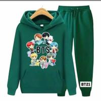 PROMO Setelan Sweater BTS Korea / SET Hoodie BTS Anak-Remaja