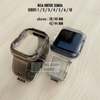 Strap Case Apple Watch SE 6 5 4 Silicone clear Transparan 40mm 44mm