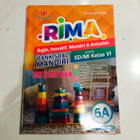 Buku RIMA Bank Soal Mandiri untuk SD/MI Kelas VI 6A Matematika