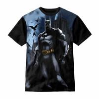 Baju anak Kaos Ank Unisex Series 3D Game Batman. Usia 1 -12 thn. Hitam