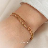Gya Set Bracelet - Gelang Wanita Gold CRAFEME