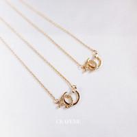 Kandara - Kalung Wanita Fashion Cubic Zirconia gold CRAFEME