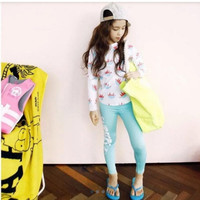 Baju Renang Anak Perempuan Girl Pastel Blue/Diving/Swimsuit - - Size 3XL
