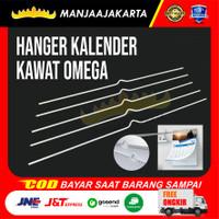 Kawat Hanger - 31cm Kalender. putih 50 Batang - 31CM