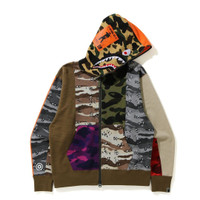 BAPE Crazy Camo Mad Shark Relaxed Fit Fullzip Hoodie Limited Rare Item