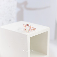 Celinee - Cincin Wanita Cubic Zirconia rose gold CRAFEME
