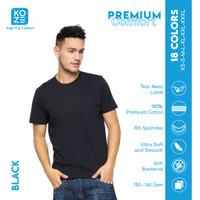 Kaos Polos Koze Combed 30 s ( Premium Comfort Black )