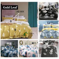 Vige Bedcover Set Katun Motif Daun Gold Leaf Size Single   Bad Cover