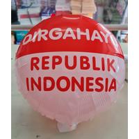 Dekorasi 17 Agustus HUT RI Balon Foil Bulat