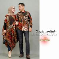 baju couple batik sarimbit kaftan ABSTRAK